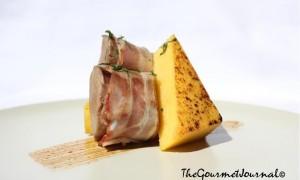 Solomillo Ibérico, Bacon y Polenta Grillé