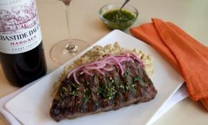 Receta: Bife de Chorizo, Mangú & Cilantro Gremolata