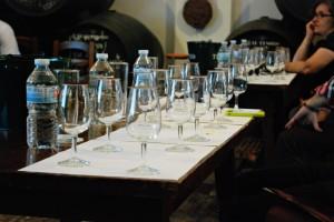 Copas preparadas para la Master Class sobre Ron Abuelo. Foto: Lluvia Montero