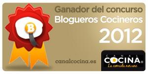 Ganador del concurso Blogueros cocineros 2012 de Canal Cocina