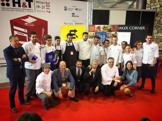 Jurado y concursantes del III Concurso Joven Chef Sabor a Málaga