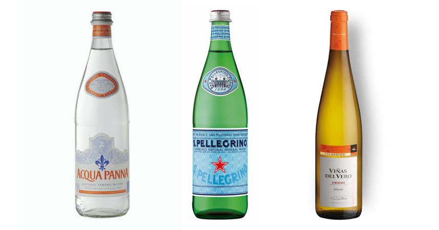Acqua Panna, S.Pellegrino y Viñas del Vero Riesling
