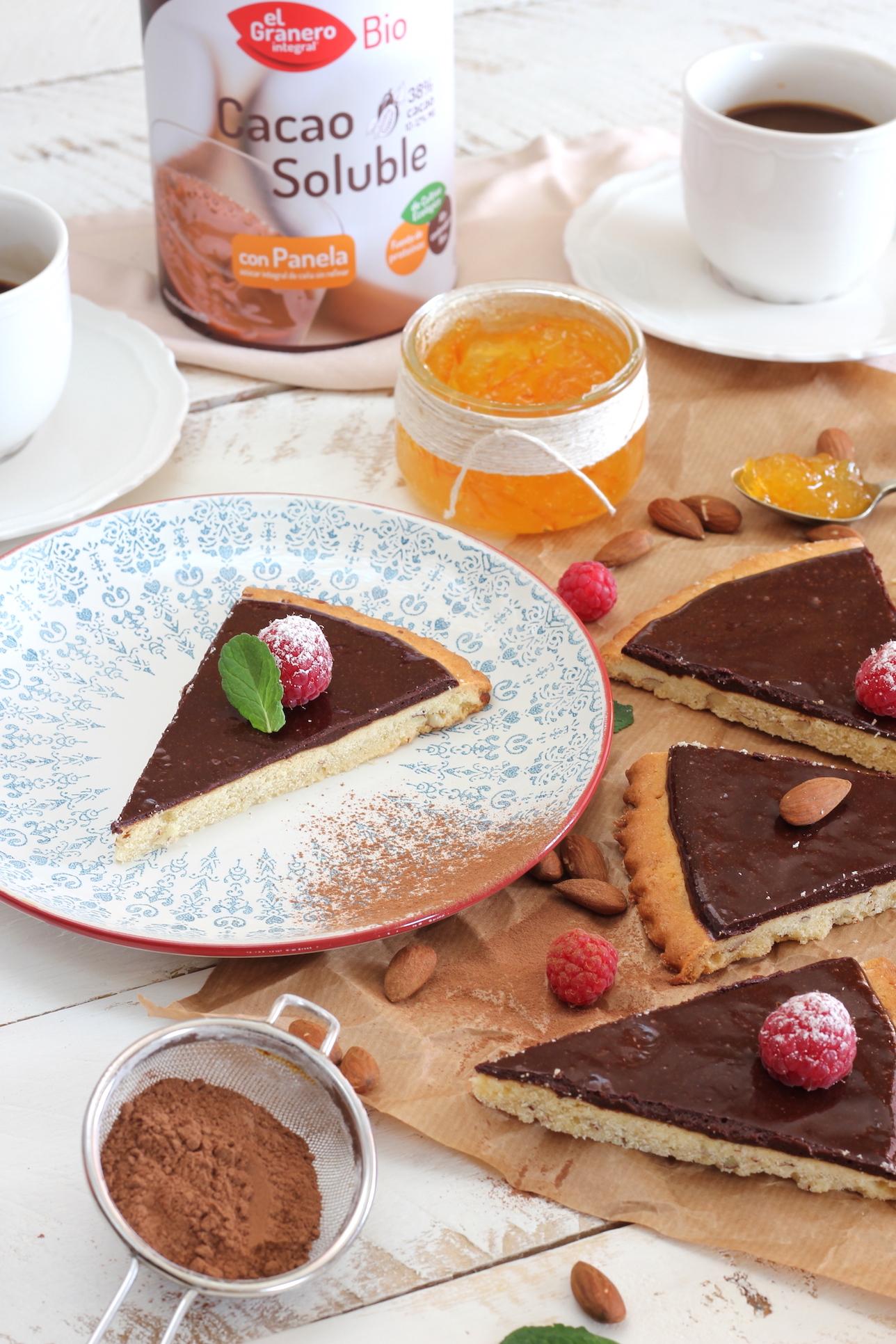 Tarta fina de Cacao y Naranja Amarga