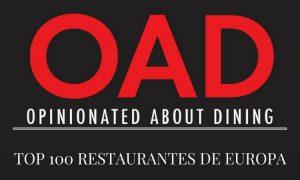 Lista de los 100 mejores restaurantes de Europa 2017 según Opinionated about Dining