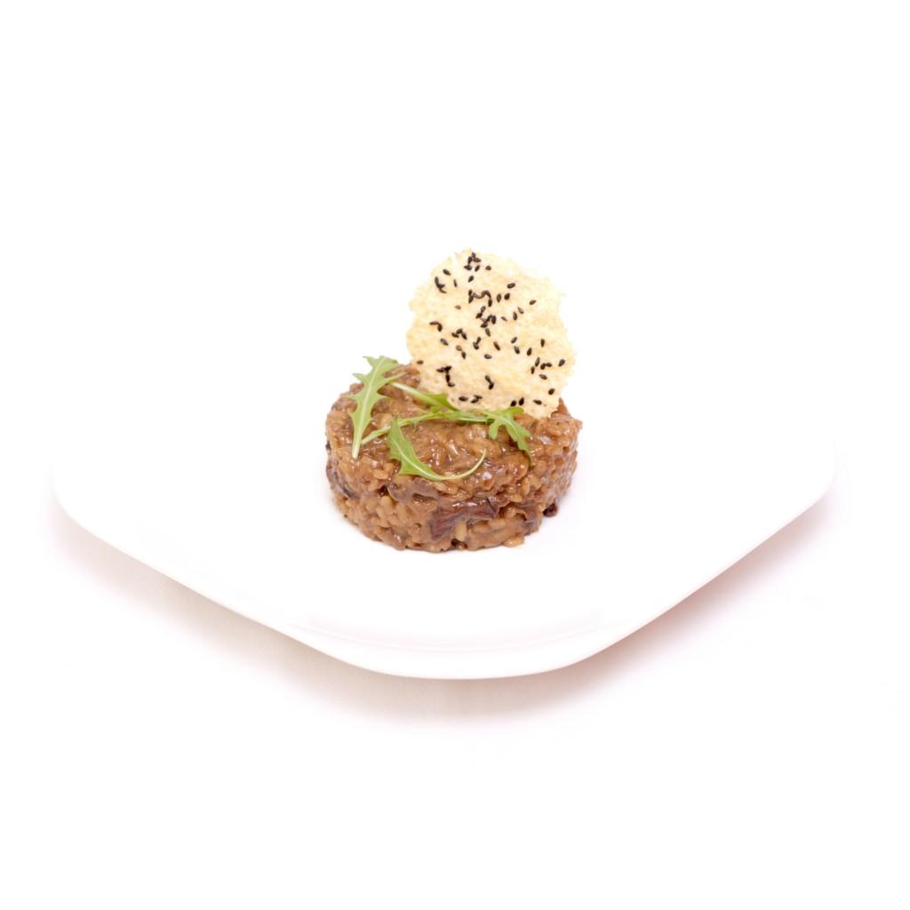 Risotto de Hongos con Crujiente de Parmesano