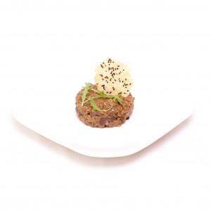 Risotto de Boletus con crujiente de parmesano