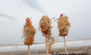 Langostinos Kataifi con Escamas de Lechuga de Mar