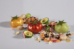 Un clásico de Dani García, los tomates de pipirrana