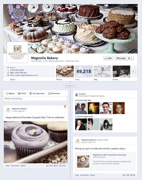 timeline de facebook restaurantes