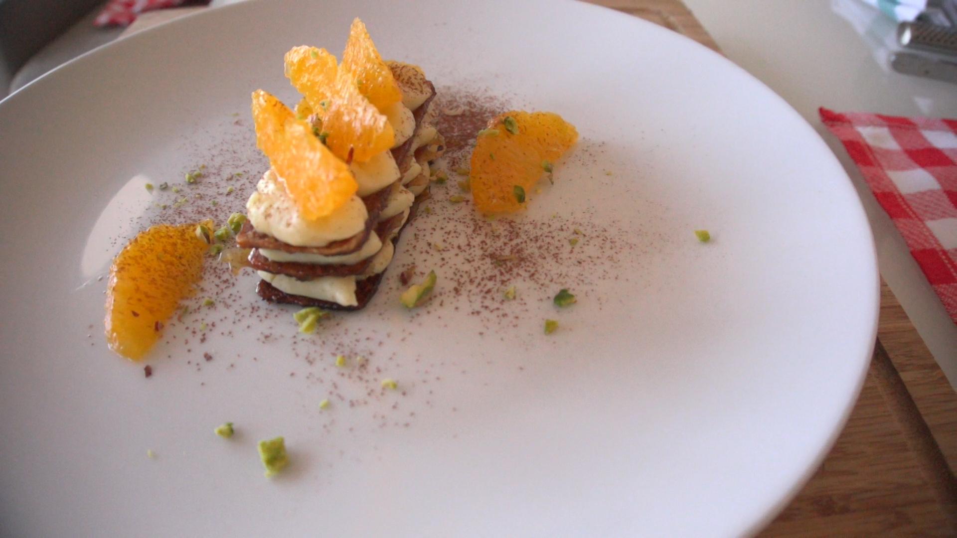 Receta: Milhojas Caramelizado con Crema de Vainilla y Naranja