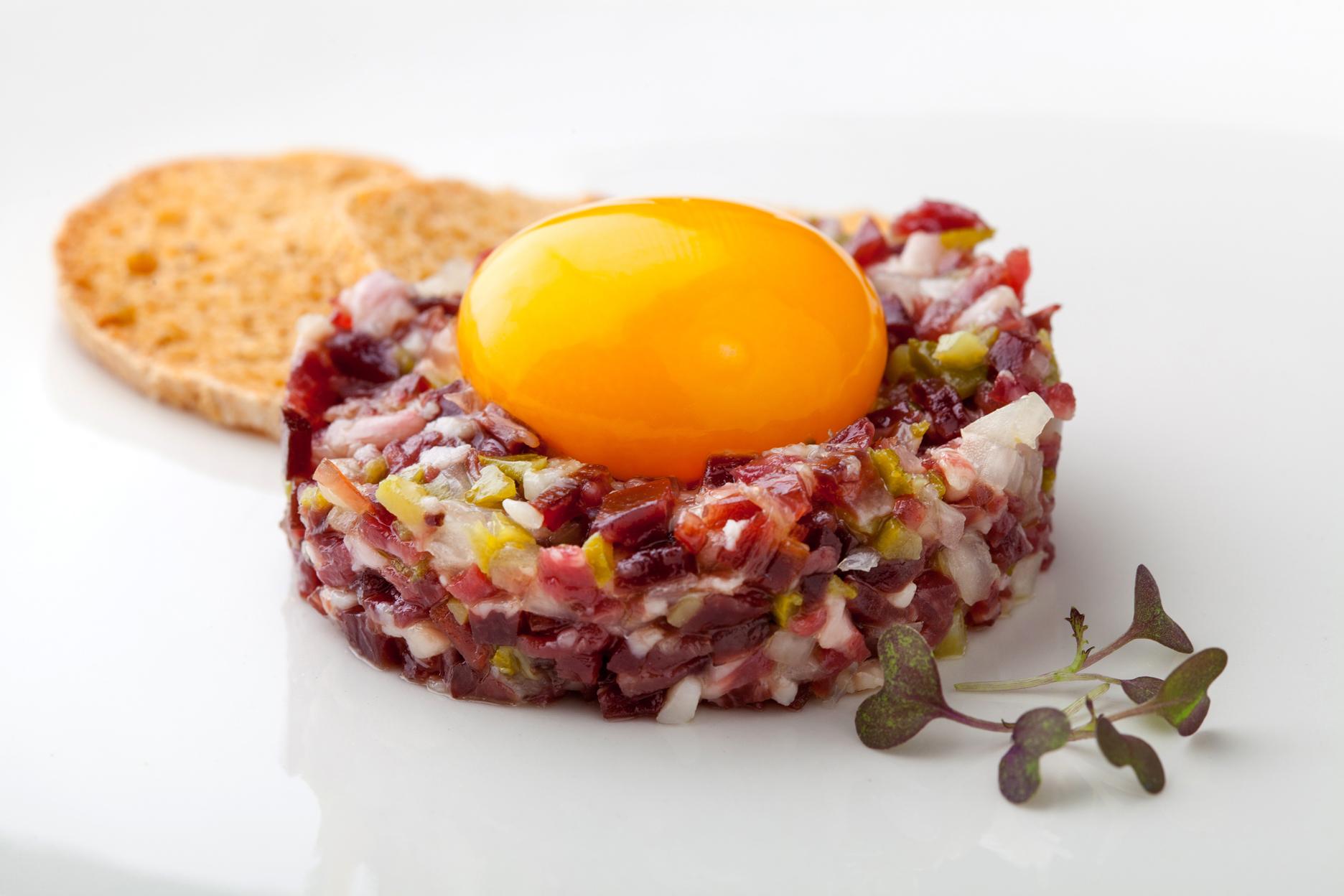 Tartar de jam n ib rico otro forma de presentar este - Platos con jamon iberico ...