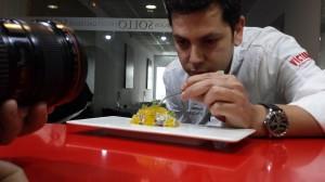 Diego Gallego en su restaurante