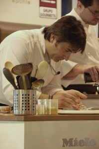 El chef malagueño José Carlos García durante la ponencia