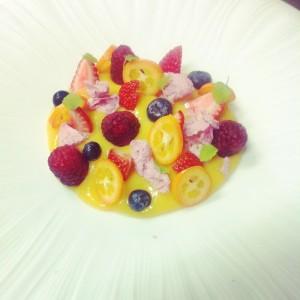 Fruta de la pasión y frutos rojos