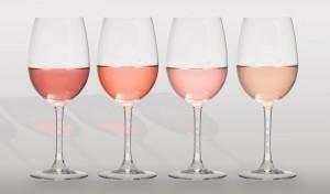 Tonalidades en los vinos rosados - Foto: Santa Cecilia