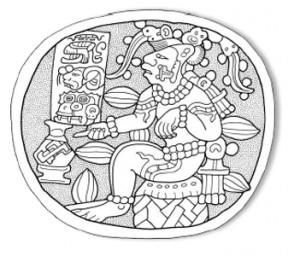 Representación de Eckchuah,  Dios Azteca del cacao.