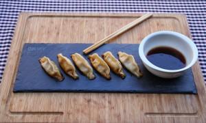 Dumplings de cerdo y verduras