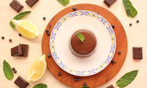 Mousse de chocolate y gin tonic