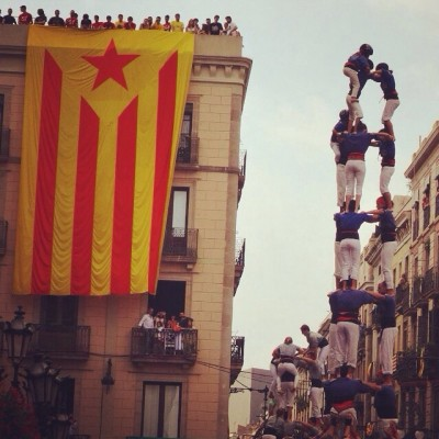 """Castellers de Barcelona"" impressive human towers."
