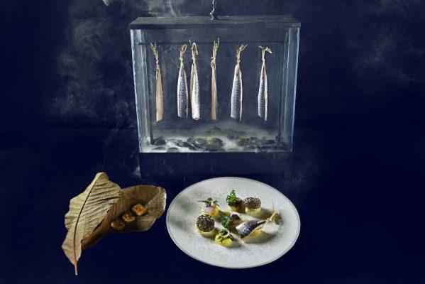 Aire de caballas curadas con patatas, Shintaro Awa