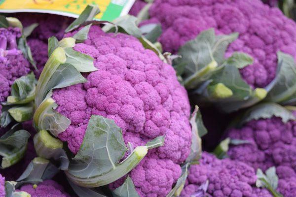 El coliflor púrpura es uno de ellos
