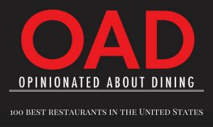 Top 100 U.S. Restaurants according to Opinionated about dining