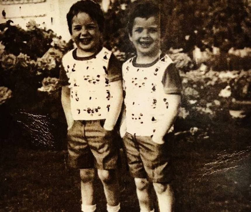 Sergio y Javier Torres en su juventud