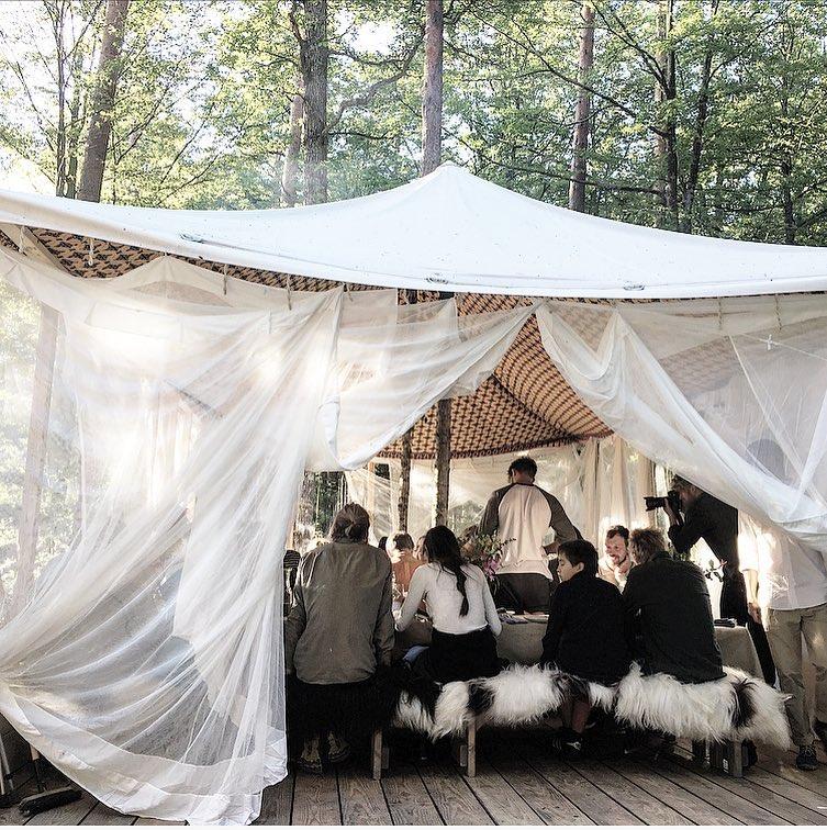 El restaurante nórdico Stedsans cambia su emplazamiento durante el verano. Foto: Stedsans, FB