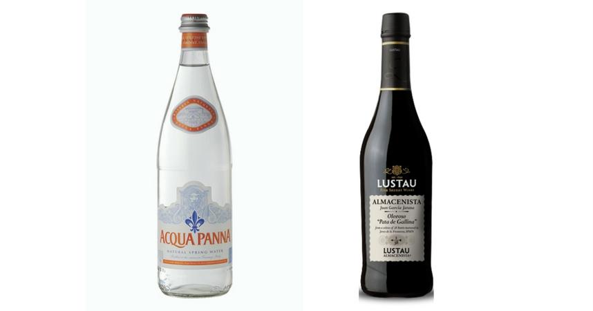 Acqua Panna y Lustau Almacenista