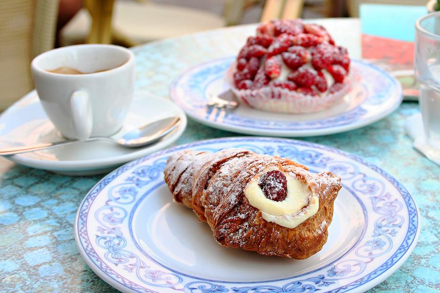La bollería predomina en los desayunos franceses