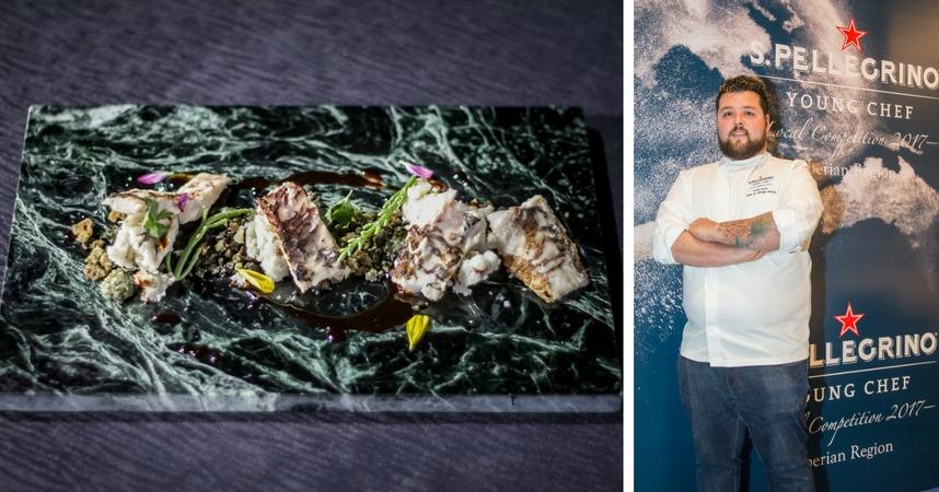 Ortega preparó vieja, un pescado tradicional de Canarias
