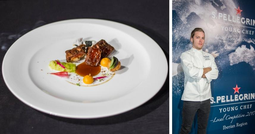 Andrea Ravasio fusionó en su plato sabores de Italia y España