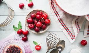 Cherry pie vegana