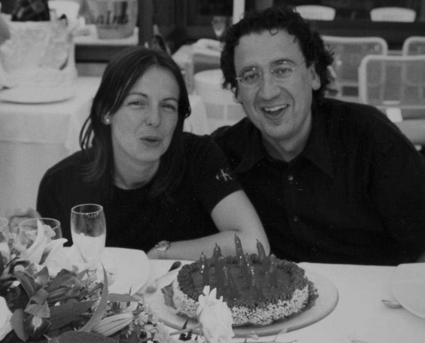 Fina Puigdevall junto a su marido y jefe de sala Manel Puigvert