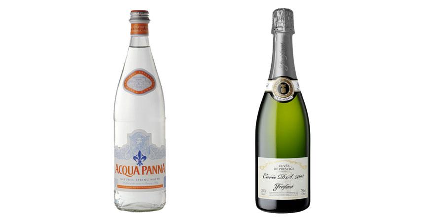 Acqua Panna y Cuvée DS Gran Reserva Brut de Freixenet