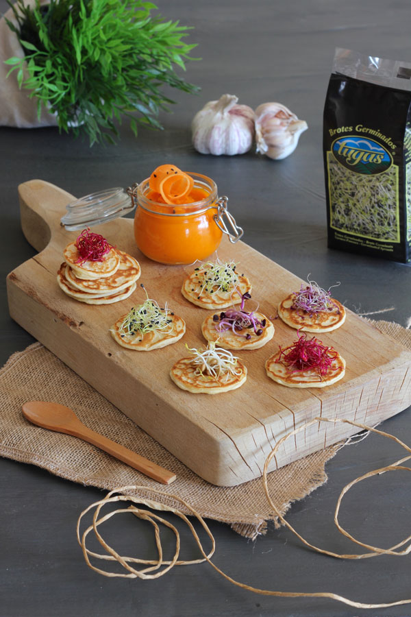 Tortitas de Brotes de Soja y Paté de Zanahoria