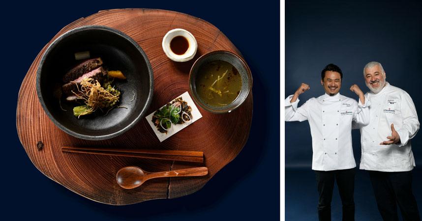 El cocinero italiano Bombana acompaño a Chen en la competición