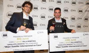 Cristian Postigo y Fernando Mayoral ganan en Málaga la semifinal del concurso 'Mejor Sumiller Internacional en Cava'