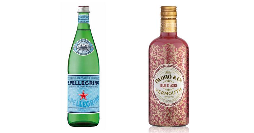 S.Pellegrino y Vermouth Padró & Co. Rojo clásico