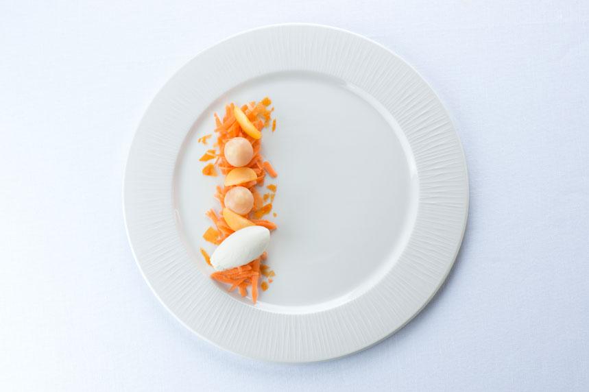Zanahoria, albaricoque, rosa común y rosa silvestre