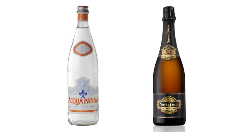 Acqua Panna y Juvé & Camps Blanc de Noirs Reserva