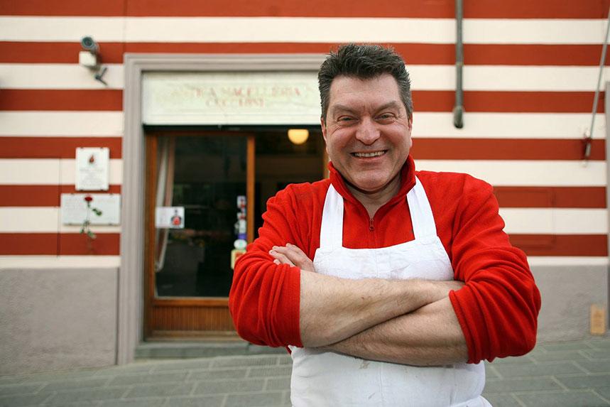 El carnicero Dario Cechinni. Foto: Facebook