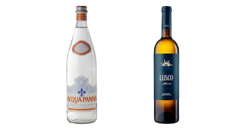 Acqua Panna y Lusco Albariño