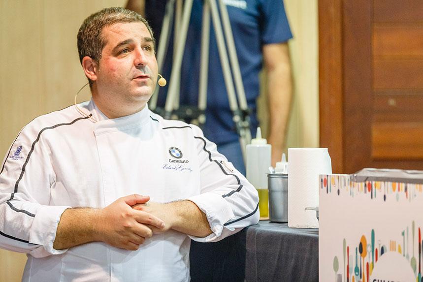 Erlantz Gorostiza durante la ponencia en Culinaria Tenerife