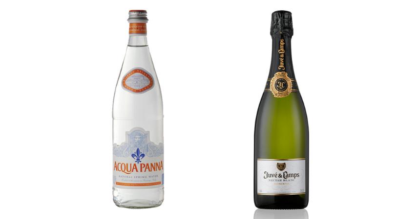 Acqua Panna y Nèctar Blanc de Juvé & Camps