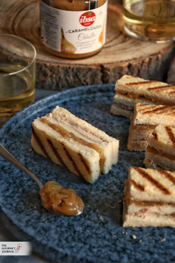 Bocaditos de Paté y Cebolla caramelizada Ibsa