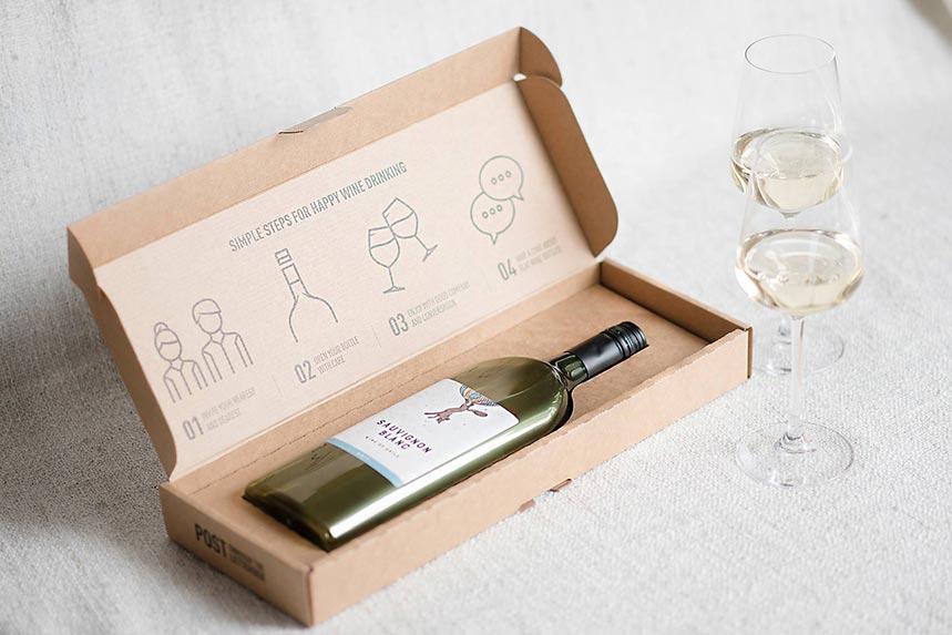 Botellas planas de vino