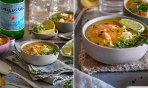 Sopa de Langostinos al Curry