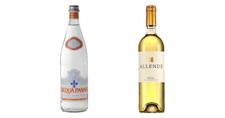 Acqua Panna y Allende Blanco