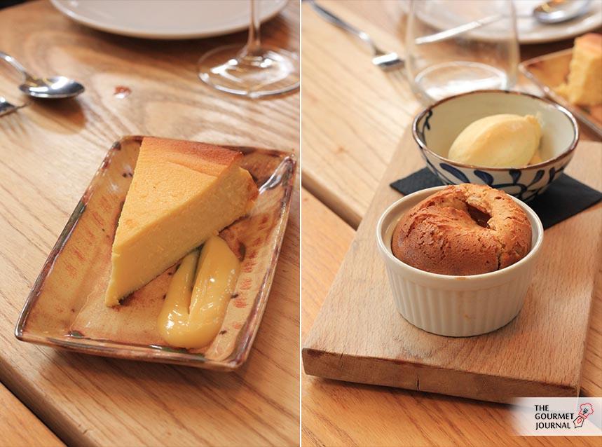 Tarta de Queso y Souflé de Almendras